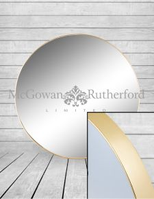 *Carton of 4* Extra Large Round Gold Framed Arden Wall Mirrors