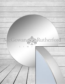 *Carton of 4* Extra Large Round Silver Framed Arden Wall Mirrors