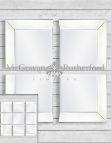 Venetian 4 Corner Piece Mirror Set