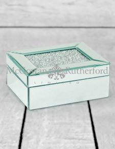 Medium Diamond Top Mirrored Jewellery Box