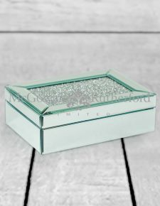 Large Diamond Top Mirrored Jewellery Box