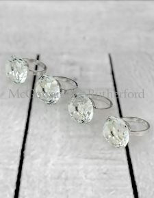 Diamond set of 4 Napkin Rings