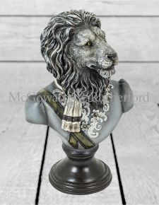 Monochrome Gentry Lion Bust on Round Base