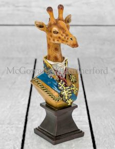 Small Gentry Giraffe Bust on Square Base
