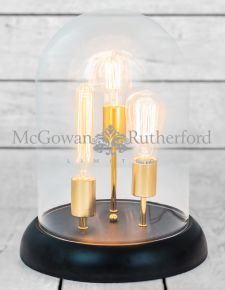 Glass Dome 3 Light Retro Table Lamp