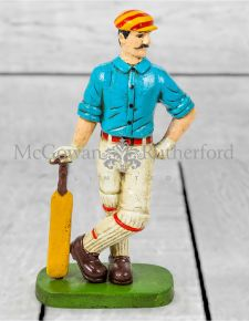 Cast Iron Antiqued Cricketer Door Stop