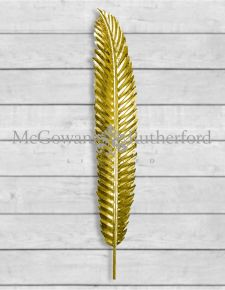 Small Gold Leaf Wall Hanging Feather