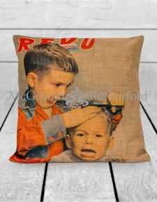 First Haircut Linen Cushion
