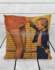 Curious Child Linen Cushion