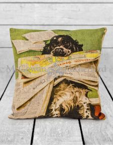 Helpful Dog Linen Cushion