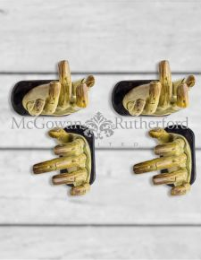 "Set of 4 ""Helping Hand"" Rustic Wood Effect Wall Hands"