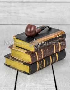 Antiqued Book with Tobacco Pipe Storage Box