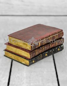 Antiqued 3 Book Large Storage Box