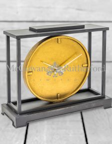 Large Industrial Style Iron Mantle Clock