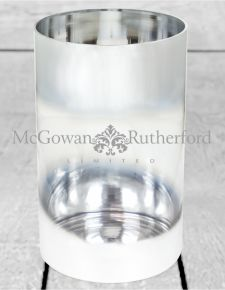 Large Silvered Round Glass Vase