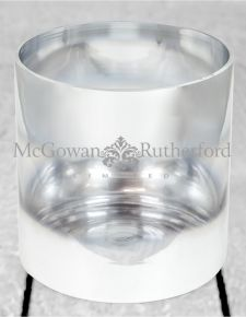 Small Silvered Round Glass Vase