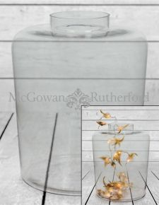 Large Clear Glass Jar Vase