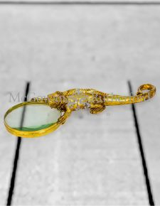 Gold Lizard Magnifying Glass