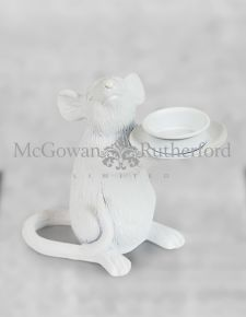 White Mouse Candle Holder - Left
