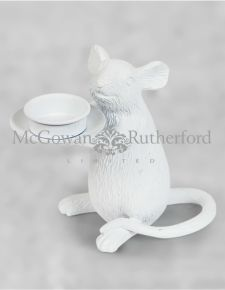 White Mouse Candle Holder - Right