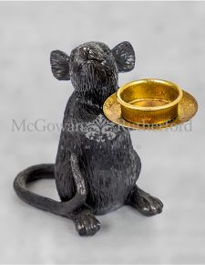 Black Mouse Candle Holder - Left