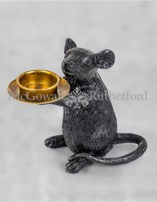 Black Mouse Candle Holder - Right