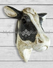 Extra Large Mosaic Friesian Cow Wall Head