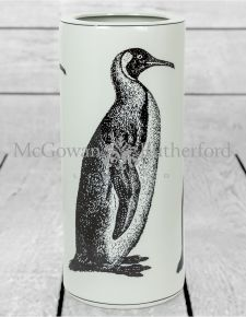 White Ceramic Penguin Umbrella Stand