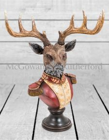 Medium Gentry Stag Bust on Square Base