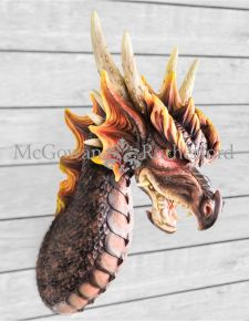 Extra Large Dragon Wall Head Figure