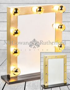 Large Brass Hollywood Table Mirror