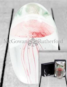 Rose Jellyfish Glass Paperweight with Gift Box