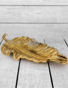 Extra Large Decorative Gilded Aluminium Leaf Platter