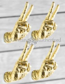 Gold Set of 4 Peace Wall Hands