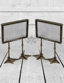 "Pair of Antique Gold/Bronze 5x7"" Duck Feet Landscape Photo Frames"