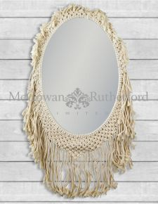 Oval Woven Framed Wall Mirror