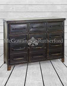 "Black Metal ""Verne"" Multi Drawer Cabinet"
