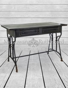 "Black Metal ""Verne"" Desk/Table"
