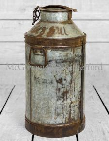 Upcycled Metal Milk Urn