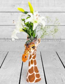 Ceramic Giraffe Head Vase