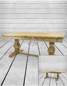 Reclaimed Elm Extending Dining Table
