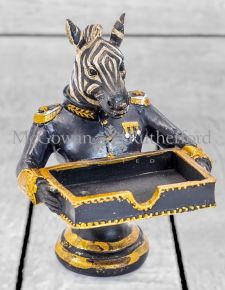 Gentry Zebra Card Holder/Sweet Tray