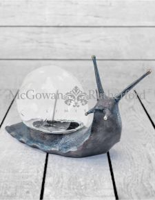 Antiqued Bronze Effect Snail with Glass Shell Display Box