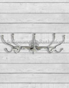 Polished Aluminium Traditional Wall Hung Coat Rack