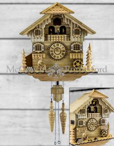 Traditional Wooden Bavarian Style Large Cuckoo Clock