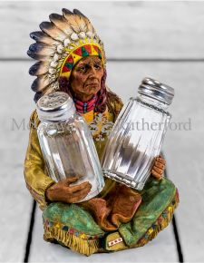 Native American Salt & Pepper Shakers Holder