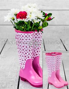 Pale Pink Pair of Welly Boots Vase *CLEARANCE ITEM*