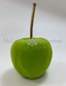 Bright Green Flocked Large Apple Table Decor