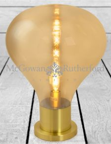 Large Gold Glass Edison Table Lamp on Brass Base (LED Bulb Included)