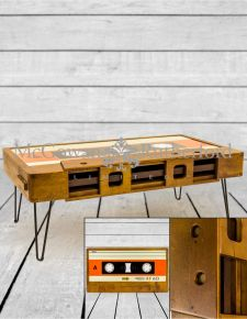 Solid Wood Retro Cassette Coffee Table